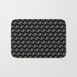 Wave Pattern | Black and White Bath Mat