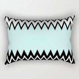 Modern black white teal stylish chevron pattern  Rectangular Pillow