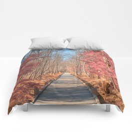 Jesup Boardwalk Trail - Tickle Me Pink Comforters