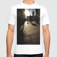 Trier Street Scene MEDIUM White Mens Fitted Tee
