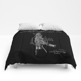 vAR-15 Semi-Automatic Rifle Patent - Black Comforters