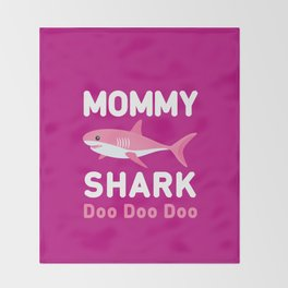 Mommy Shark Throw Blanket