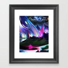 Rainbow hills Framed Art Print