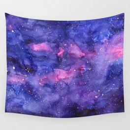 Galaxy Pattern Watercolor Wall Tapestry