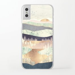 Golden Spring Reflection Clear iPhone Case