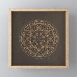 Copper, Siver, and Gold Mandala Framed Mini Art Print