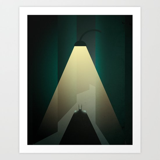 Smooth Heroes - Alone in the dark Art Print