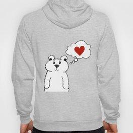 Teddy Bear Falling in Love Hoody