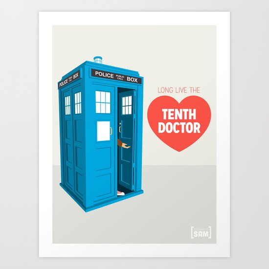 Doctor Who: Long Live the Tenth Doctor Art Print