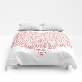 I Love You (Languages of Love Heart) Comforters