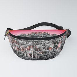 Gray Trees Candy Apple red Sky Fanny Pack