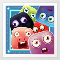 Glutton Jelly Monsters - all Art Print