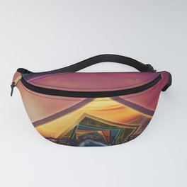 Bridge of a Thousand Colors, a Beautiful Rainbow Fractalscape Fanny Pack