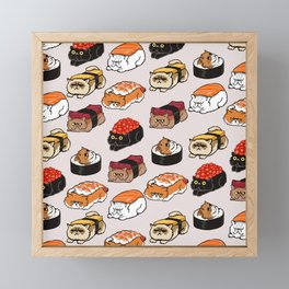 Sushi Persian Cat Framed Mini Art Print