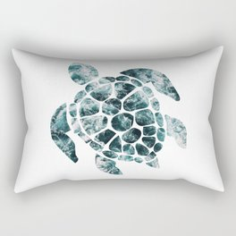 Sea Turtle - Turquoise Ocean Waves Rectangular Pillow
