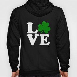 Love with Irish shamrock Hoody