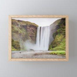 Skogafoss waterfall Framed Mini Art Print