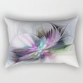 New Life, Abstract Fractals Art Rectangular Pillow