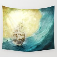 Through Stormy Waters Wall Tapestry