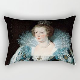 Royal Portrait Queen Anna Rectangular Pillow