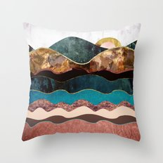 Blush Moon Throw Pillow