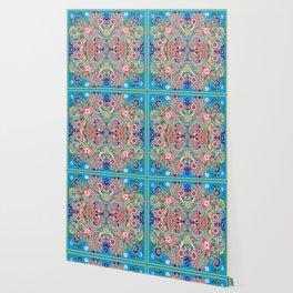 Mandala - Turquoise Boho Wallpaper