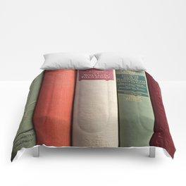Old Books - Square Comforters