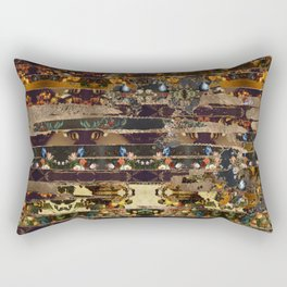 Abstract Oil Paint Collage #3 Rectangular Pillow