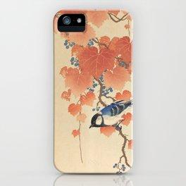 Ohara Koson - Japanese Bird Blockprint iPhone Case