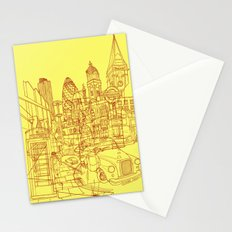 London! Yellow/Red Stationery Cards