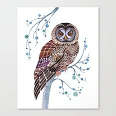 lacy owl Canvas Print