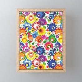 Folk - garden XL Framed Mini Art Print