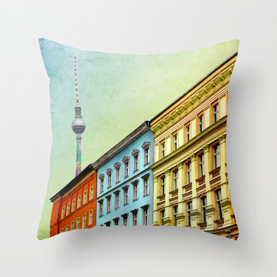 The Streets of Berlin Throw Pillow