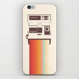 Instant Camera Rainbow iPhone Skin