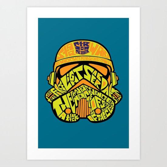 Neon Trooper. Art Print