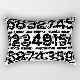 Numbers pattern Rectangular Pillow