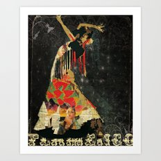 Dance. Illustration series. Art Print