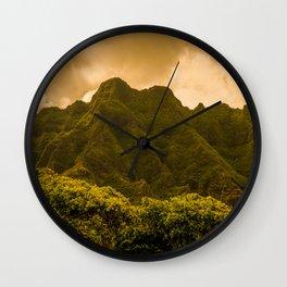 Dream of cliffs Wall Clock