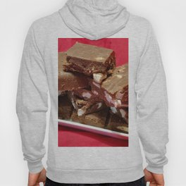 Cherry Chocolate Marshmallow Fudge On A Plate Hoody