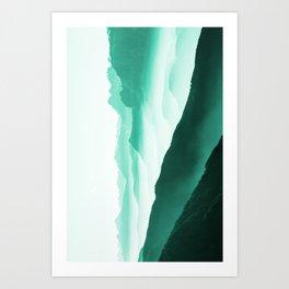 Creamy Mountains Art Print