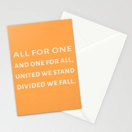 The Three Musketeers Quote Stationery Cards