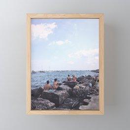 Summer at Lake Michigan, Chicago Framed Mini Art Print
