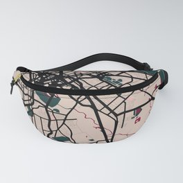 Dallas Street Map // Red Theme Fanny Pack