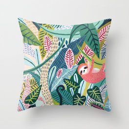 Jungle Sloth & Panther Pals Deko-Kissen