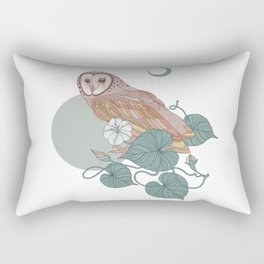 Pink Barn Owl Rectangular Pillow
