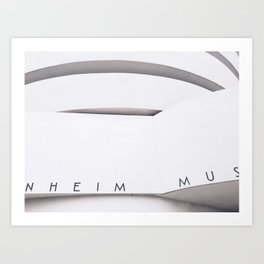 Black & White Guggenheim / New York, NY Art Print