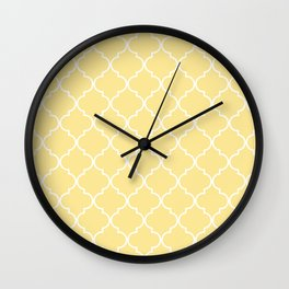 Quatrefoil - Shortbread Wall Clock