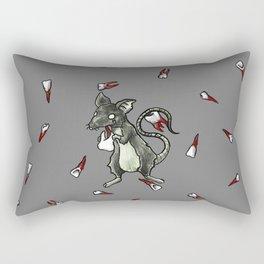 Dirty Rat bloody Teeth Rectangular Pillow