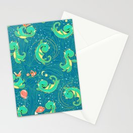 Baby Nessy   Blue Green Stationery Cards