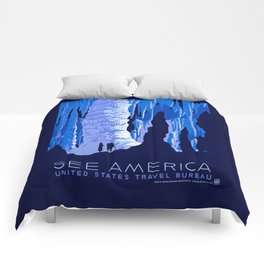 See America - Vintage 1930's US Travel Advertisement  Comforters